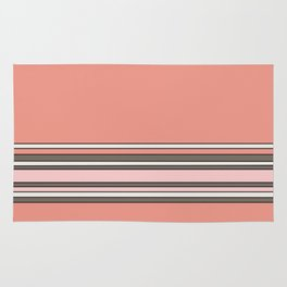 Romantic Pink Stripes Rug