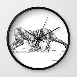 The Face (The Art of Lax™) Wall Clock