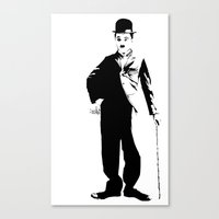 chaplin Canvas Prints featuring Chaplin by Vee Ladwa
