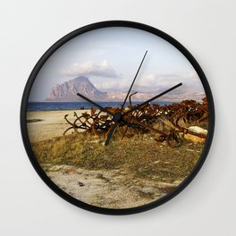"Abandoned Old Port - Anchors - Sicily - ""VACANCY"" zine Wall Clock"