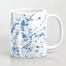 Splat Blue on White Coffee Mug
