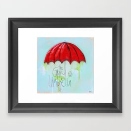 The Gray Umbrella Framed Art Print