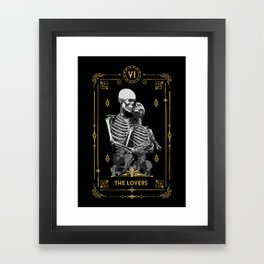 The Lovers VI Tarot Card Framed Art Print