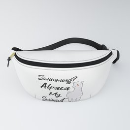 SWIMMING / HUMOR / SWIMMER : Alpaca my Swimsuit Fanny Pack