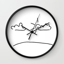 sky with the sun and clouds Wall Clock