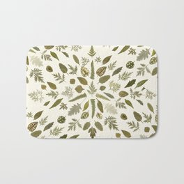 Collage of Leaves Bath Mat