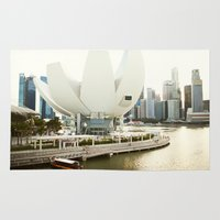 singapore Area & Throw Rugs featuring Singapore by Jeremiah Wilson
