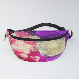 The lady ghosts (alcohol ink abstract in pink purple and gold) Fanny Pack