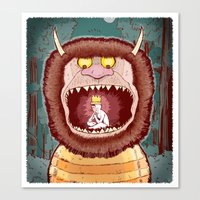 wild things Canvas Prints featuring Wild Things. by BTillustration