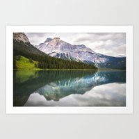 Majestic lake in the Canadian Rockies Art Print