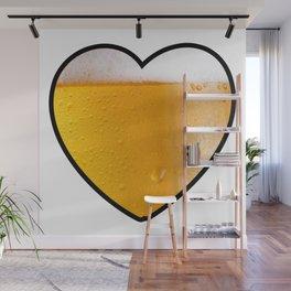 Beer Pint Heart Wall Mural