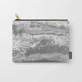 Real Gray Marble Carry-All Pouch
