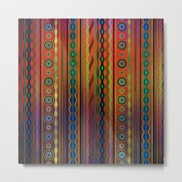 Beautiful Translucent Tribal Pattern Metal Print