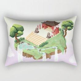 Temple in the sky Rectangular Pillow