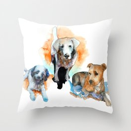 dogs#1 Throw Pillow