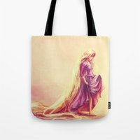 prince Tote Bags featuring Gilded by Alice X. Zhang
