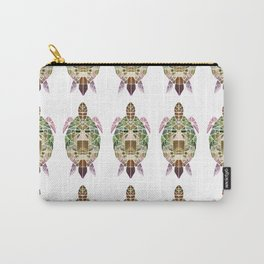 green mosaic turtle Carry-All Pouch