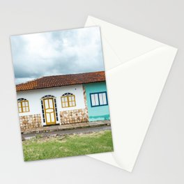Typical colorful houses from colonial cities of Minas Gerais, Brazil Stationery Cards