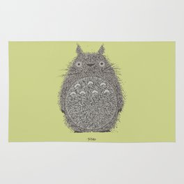 Avocado Totoro Rug