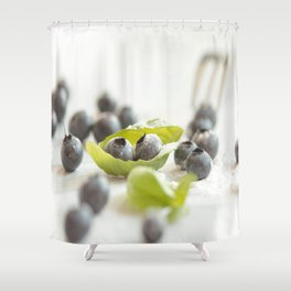 Fresh Bluebeeries with sugar Shower Curtain