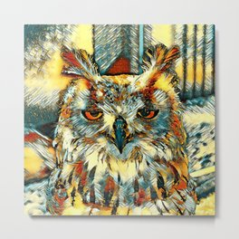 AnimalArt_Owl_20170905_by_JAMColorsSpecial Metal Print