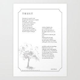 """""""Trust"""" by Lynne Burnett Art Print"""