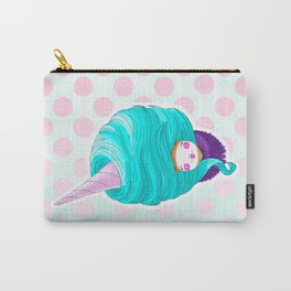 Doll-faced blue cotton candy Carry-All Pouch