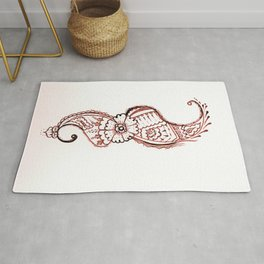 25. Sea Horse Henna Flower Pattern  Rug