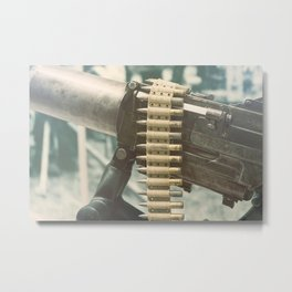Old machine Gun. First World War Machine gun. Metal Print