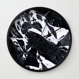 Classic Black Marble Wall Clock