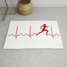 RUNNER'S WOMAN HEARTBEAT Rug