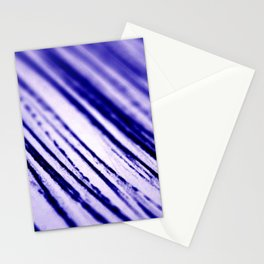 Blue paint brush marks abstract. Stationery Cards