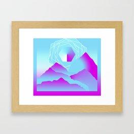Crimson Terrain Framed Art Print