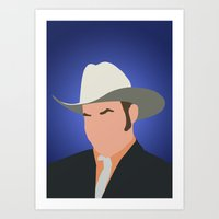 anchorman Art Prints featuring Champ Kind - Anchorman by Tom Storrer