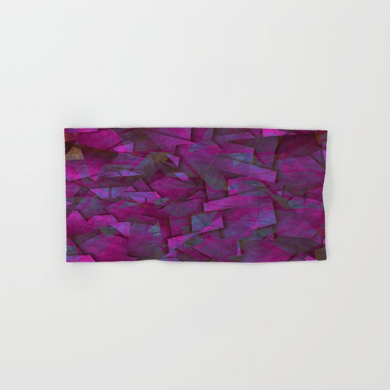 Fragments In Pueple - Abstract, fragmented pattern in purple Hand & Bath Towel