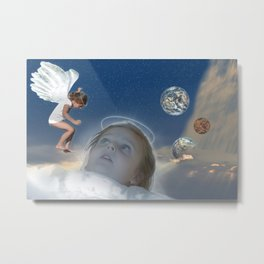 Angel's dream about Existence, the Universe, and the Creation of Life Metal Print