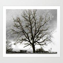 L'arbre de Gourdon Art Print