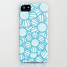 Field of daisies - teal iPhone Case