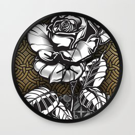 Rubino Metal Rose One World Wall Clock