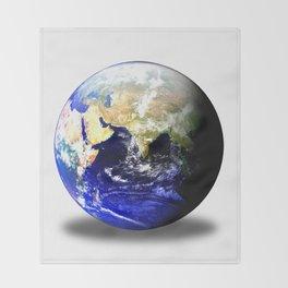 Earth Globe East Shadow Throw Blanket