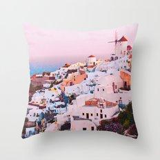 Oia town Santorini Throw Pillow