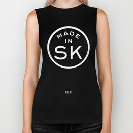 Made in Saskatchewan - SK (white logo) Biker Tank