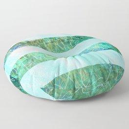 Turquoise Stripes Floor Pillow