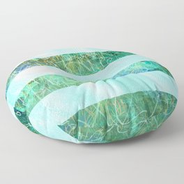 Turquoise Stripes Floor Pillow