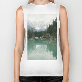 Turquoise lake - Landscape and Nature Photography Biker Tank