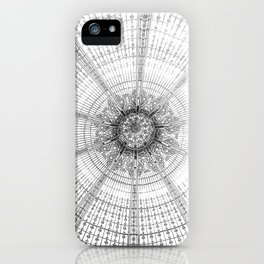 Paris Galerie Lafayette black and white photography (2/2) iPhone Case