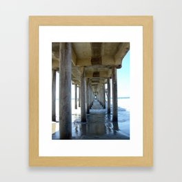 Straight and narrow Framed Art Print