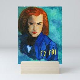 Dana Scully FBI Mini Art Print