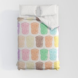 Rainbow Gummy Candy Guinea Pigs Pattern  Comforters