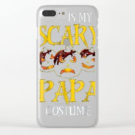 This Is My Scary Papa Costume Halloween Shirt Clear iPhone Case
